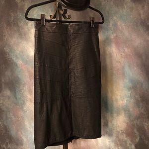 Rebel Wilson for Torrid Faux Leather Midi Skirt